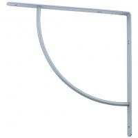 Кронштейн арочный (выгнутый) 250х250х20 мм, серебряный СИБРТЕХ