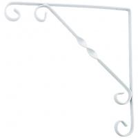 Кронштейн декоративный 100х100 мм, белый СИБРТЕХ