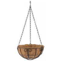 Подвесное кашпо с декором, 25 см, с кокосовой корзиной// PALISAD