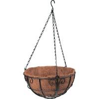 Подвесное кашпо с декором, 30 см, с кокосовой корзиной// PALISAD