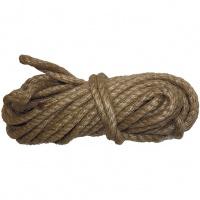 Веревка джутовая, L 10 м, крученая, D 8 мм. Россия Сибртех