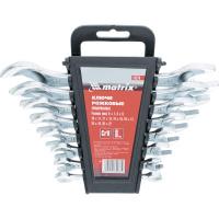 Набор ключей рожковых, 6 х 22 мм, 8 шт., CrV, хромированные MATRIX