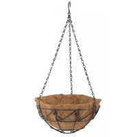 Подвесное кашпо с орнаментом, 25 см, с кокосовой корзиной// PALISAD
