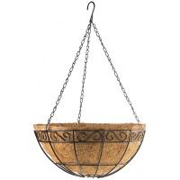 Подвесное кашпо с орнаментом, 30 см, с кокосовой корзиной// PALISAD