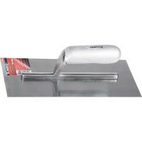 Гладилка стальная, 280 х 130 мм, зеркальная полировка, деревянная ручка MATRIX