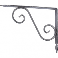 Кронштейн декоративный, 145х110х25х3 мм, темно-коричневый СИБРТЕХ