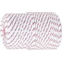 Фал плетёный полипр. 16-прядный с полипр. серд. 8 мм., бухта 100 м, 520 кгс Россия Сибртех