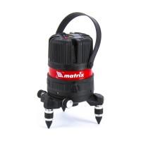 Лазерный уровень ML04P, 10м, ±0,3мм/1м, 635нм, 4 верт. 1 гор. пл., пыле-влаго. защ. корпус MATRIX