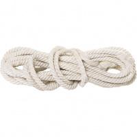 Веревка х/б, D 12 мм., L 11 м, крученая, 299 кгс Россия Сибртех