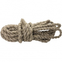 Веревка льнопеньковая, D 10 мм., L 6 м, крученая Россия Сибртех