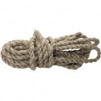 Веревка льнопеньковая, D 12 мм., L 10 м, крученая Россия Сибртех
