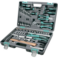 Набор инструментов 76 предметов, 12 гранные головки STELS