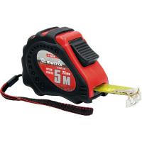 Рулетка Status autostop magnet+, 5 м х 25 мм, обрезиненная, нейлоновое покрытие MATRIX