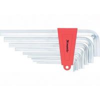 Набор ключей имбусовых HEX, 2–12 мм, CrV, 9 шт., короткие с сатинированным покрытием MATRIX
