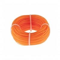 Леска строительная, 100 метров, D 1 мм, цвет оранжевый Сибртех