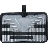 Набор ключей имбусовых HEX-TORX, 18 шт: HEX 1,5–10 мм, T10-T50, CrV, коротких, с сатиновым покрытием MATRIX