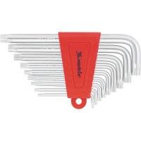 Набор ключей имбусовых TORX, 9 шт., T10-T50, CrV, коротких, с сатинированным покрытием MATRIX